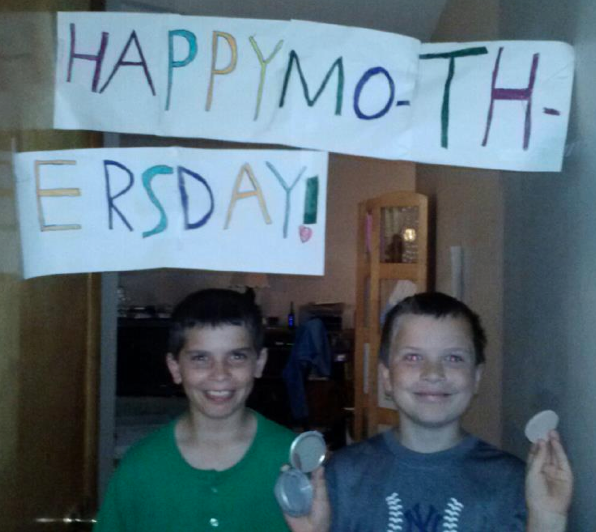 Happy Mother's Day from Noah and George