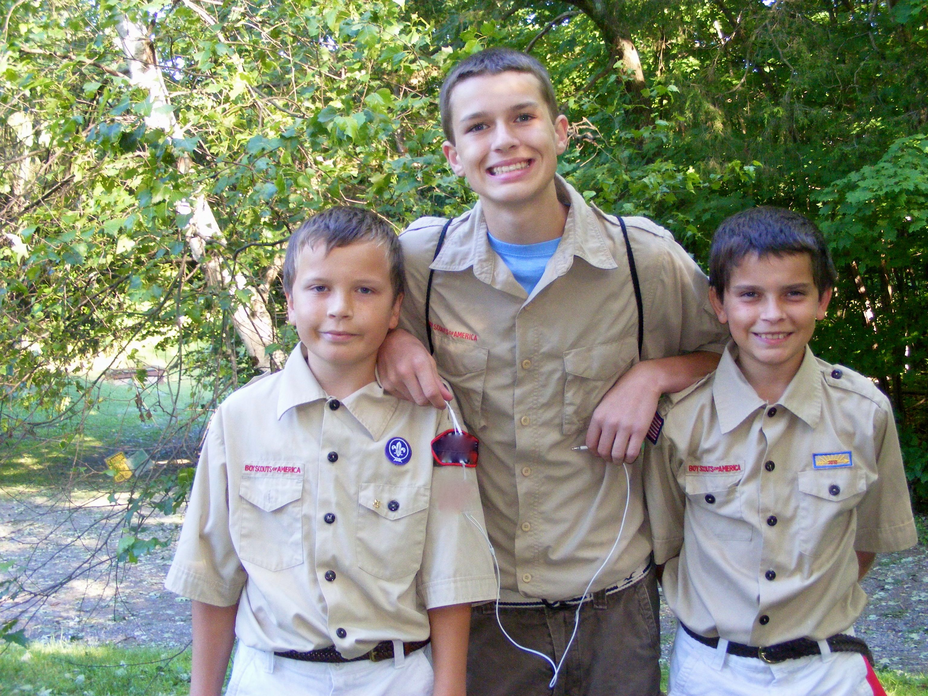 Boys Scouts ready for camp