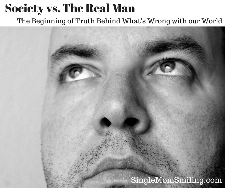 B & W Real Man's Face