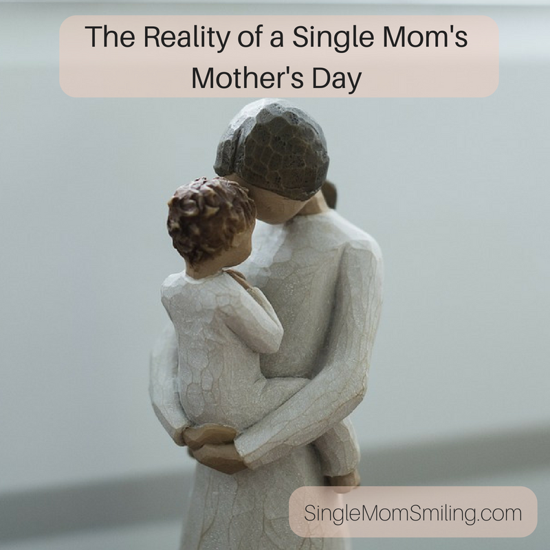single mom and child figurine on Mothers Day